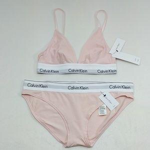 Calvin Klein Underwear Intimates   Sleepwear - Calvin Klien pastel pink  bralette w  bikini briefs 539fbafe0